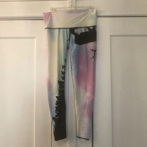 Rainbow Teeki Leggings with Elk (L)